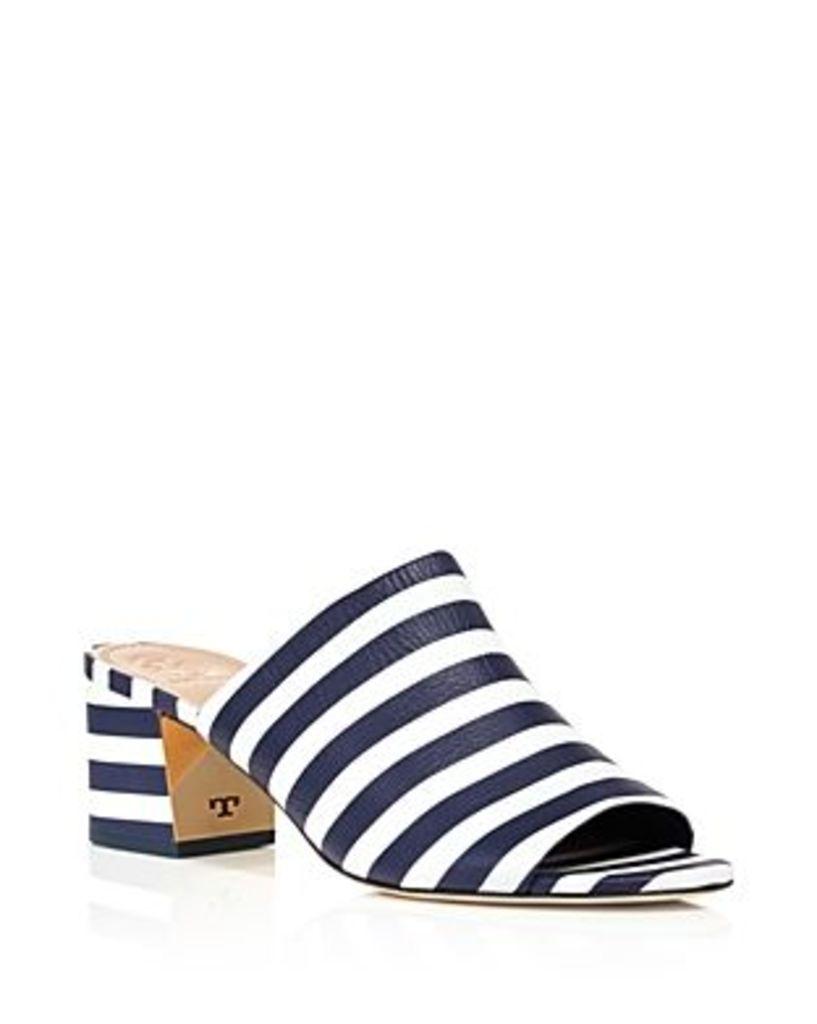 Tory Burch Salinas Striped Slide Block Heel Sandals - 100% Exclusive