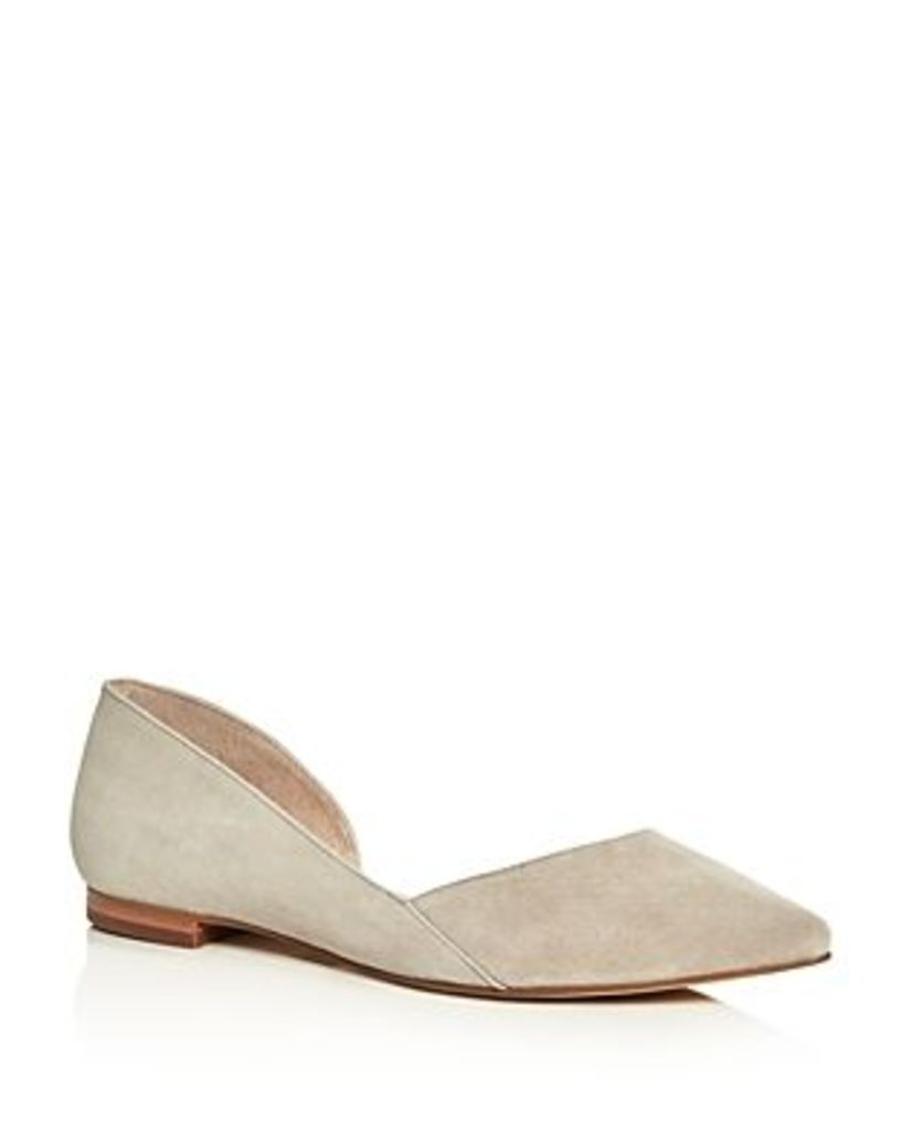 Marc Fisher Ltd. Sunny Suede Pointed Toe d'Orsay Flats