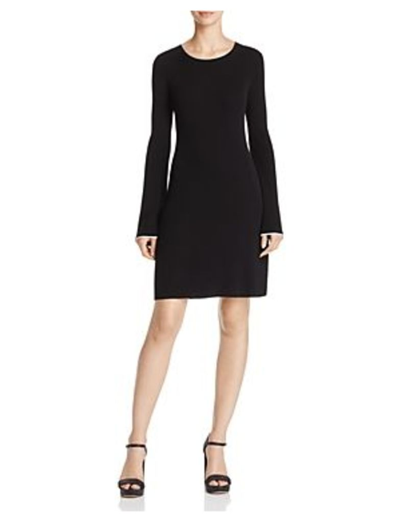 Theory Bell Sleeve Fit-and-Flare Dress