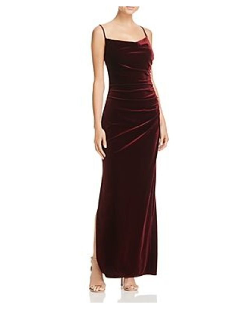 Laundry by Shelli Segal Shirred Stretch Velvet Dress - 100% Exclusive