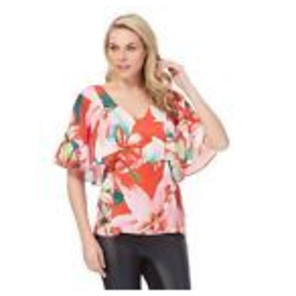 Star By Julien Macdonald Womens Multi-Coloured Floral Print Cape Top 8