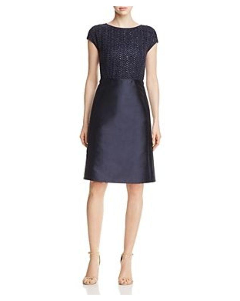Lafayette 148 New York Hillany Woven Bodice Dress