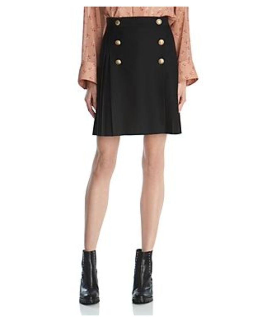 The Kooples Sailor-Style Pleated Mini Skirt