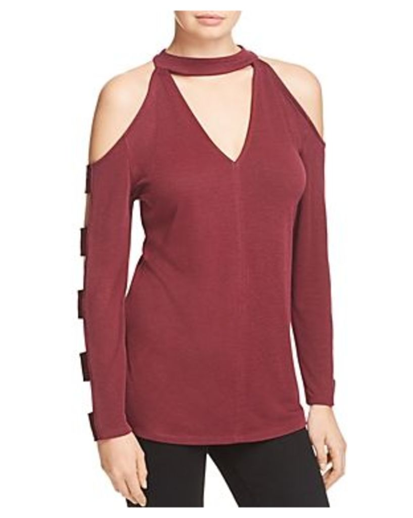 Love Scarlett Cold Shoulder Cutout Sleeve Top