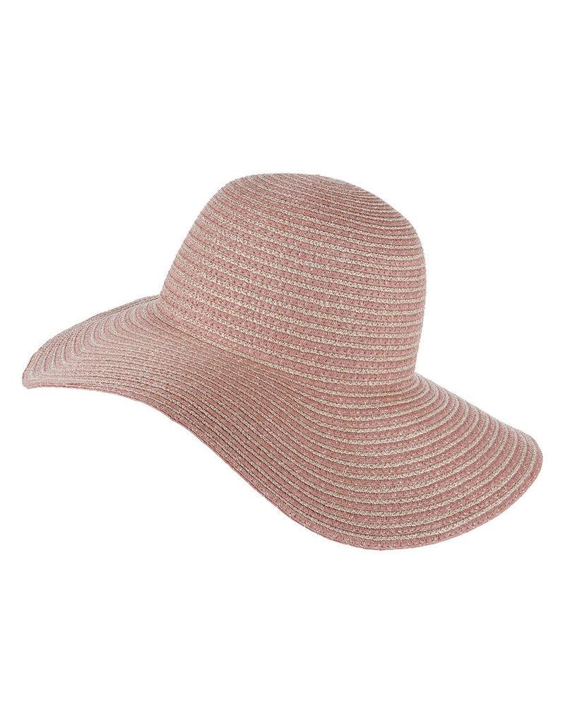 Rose Gold Stripe Floppy Hat