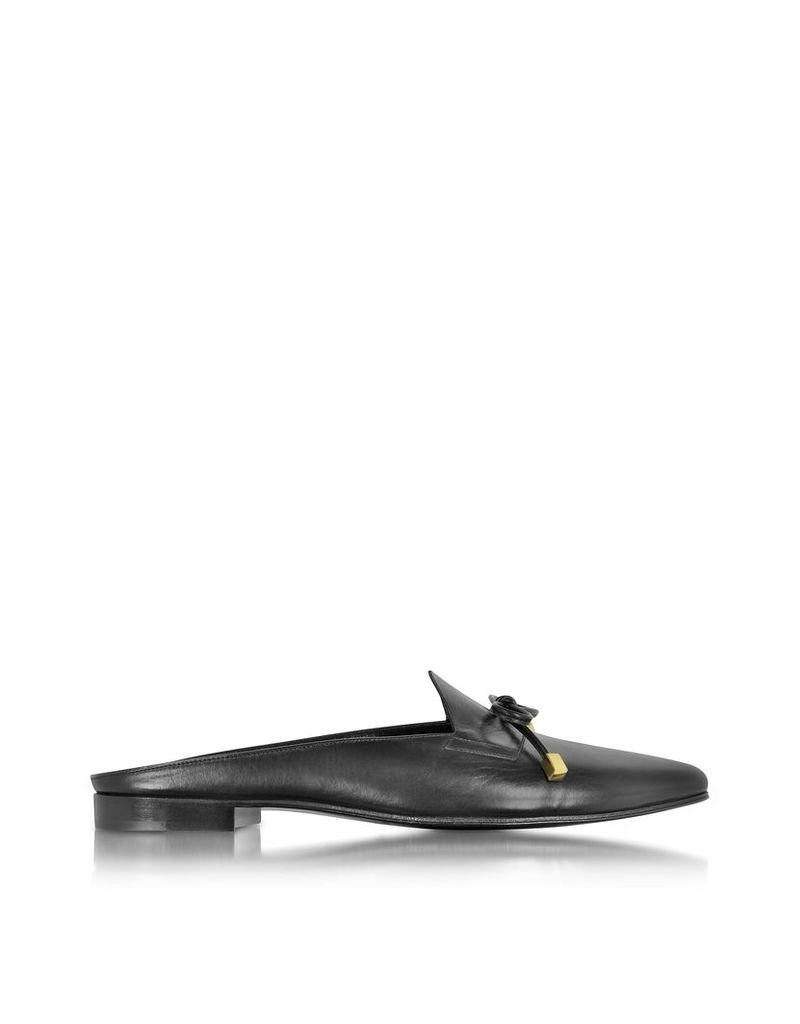 Pierre Hardy Shoes, Mademoiselle Jacno Black Leather Mule