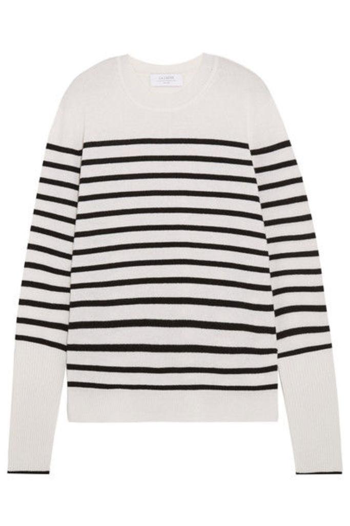 La Ligne - Aaa Striped Cashmere Sweater - White