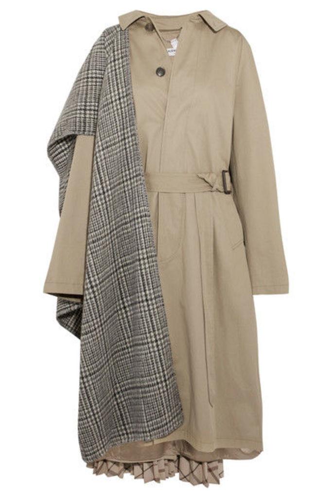 Balenciaga - Oversized Paneled Cotton-twill Trench Coat - Beige