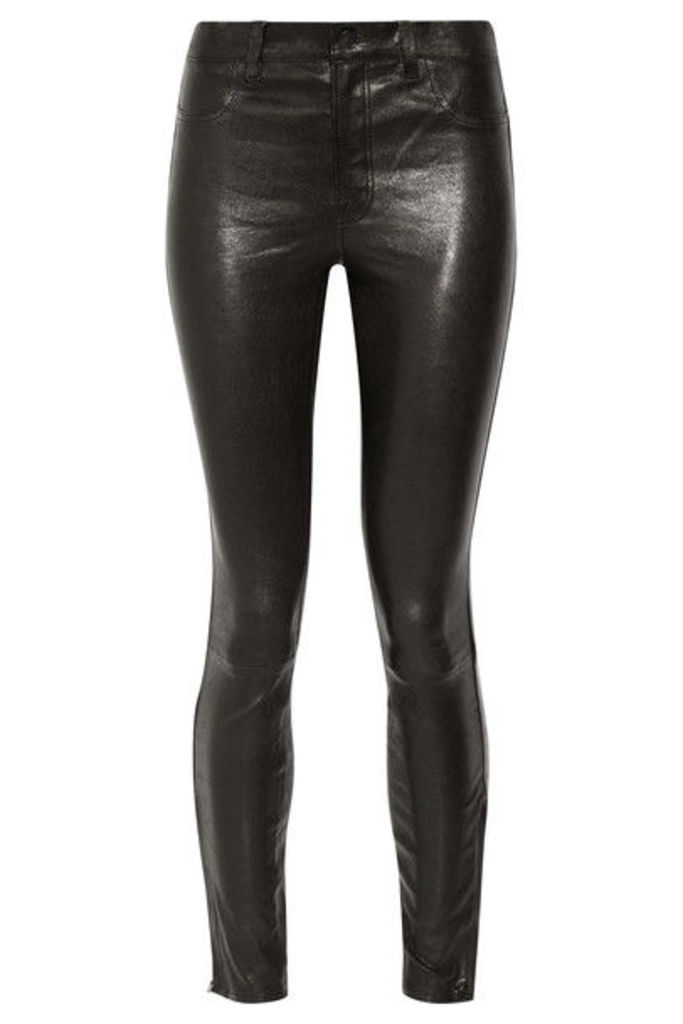 J Brand - 8001 Leather Skinny Pants - Black