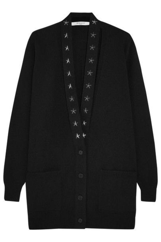 Givenchy - Embellished Cutout Cashmere Cardigan - Black