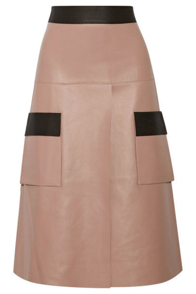 Dion Lee - Two-tone Leather Skirt - Antique rose
