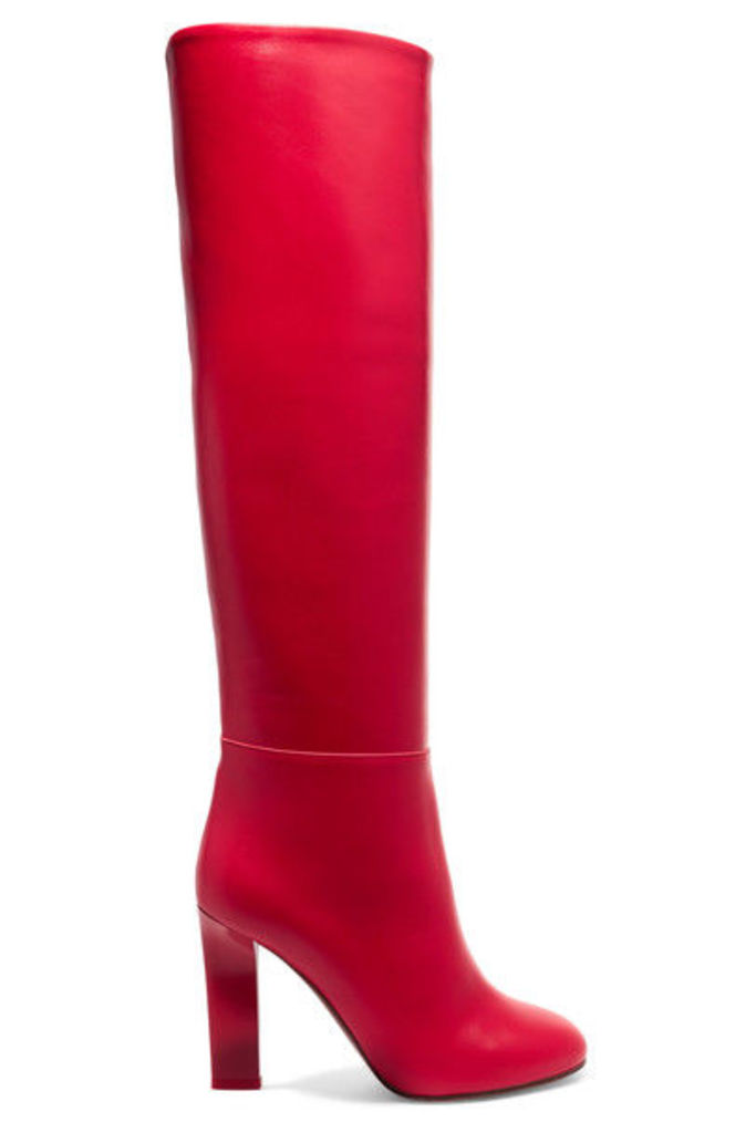 Victoria Beckham - Leather Knee Boots - Red