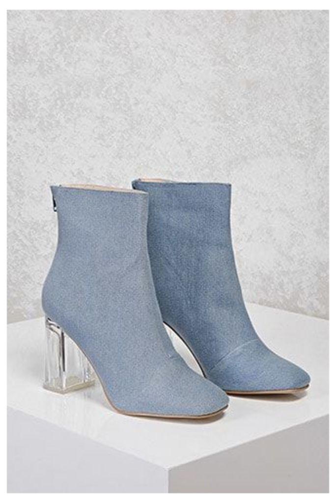 Denim Lucite Boots