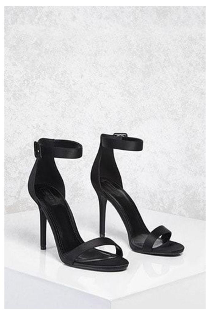 Satin Ankle-Strap Stilettos