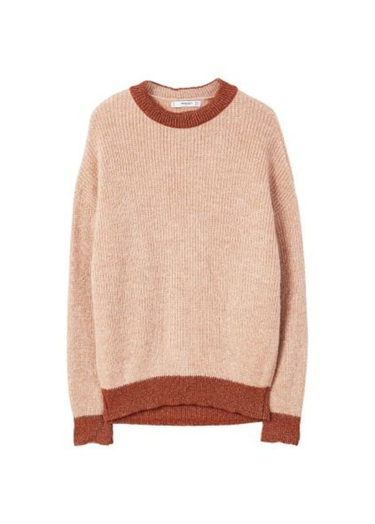 Metallic thread textured sweater