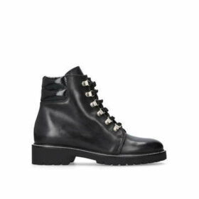 Carvela Stroll - Black Flat Hiker Boots
