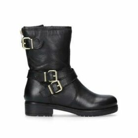 Carvela Soulful - Black Leather Biker Boots