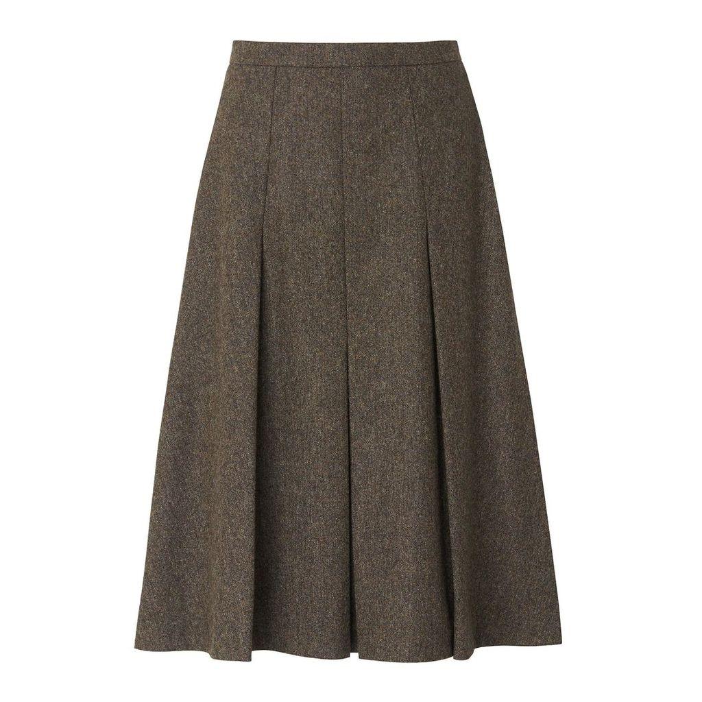 Margret Tweed Wool Skirt