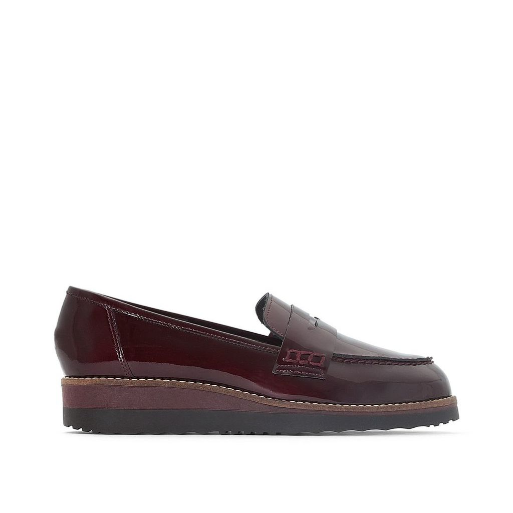 Graphic Leather Loafers
