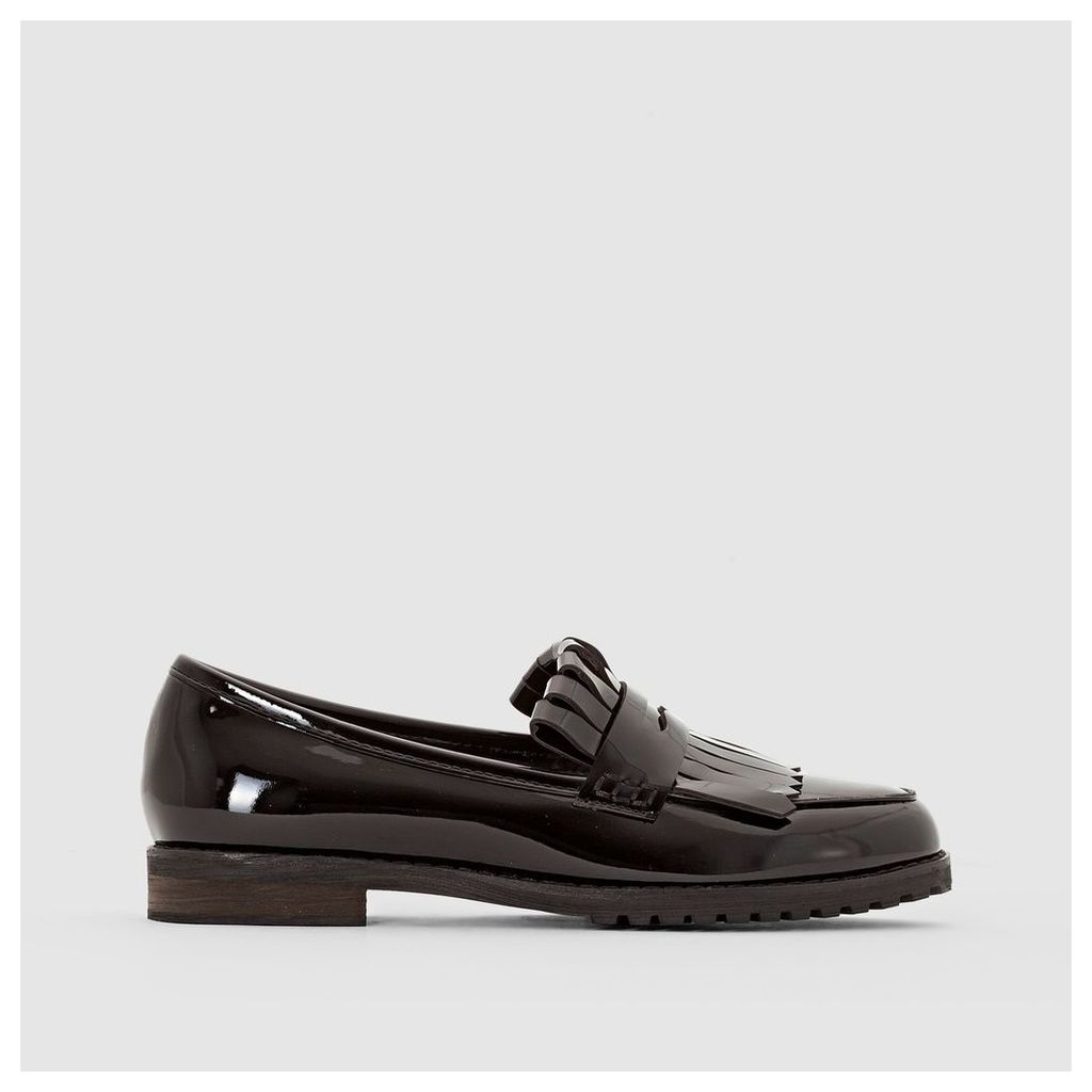 Patent Loafers with Mexican Tab
