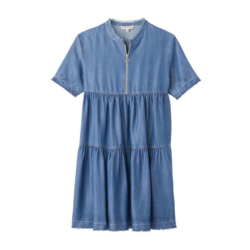 Lola Denim Dress with Ruffles