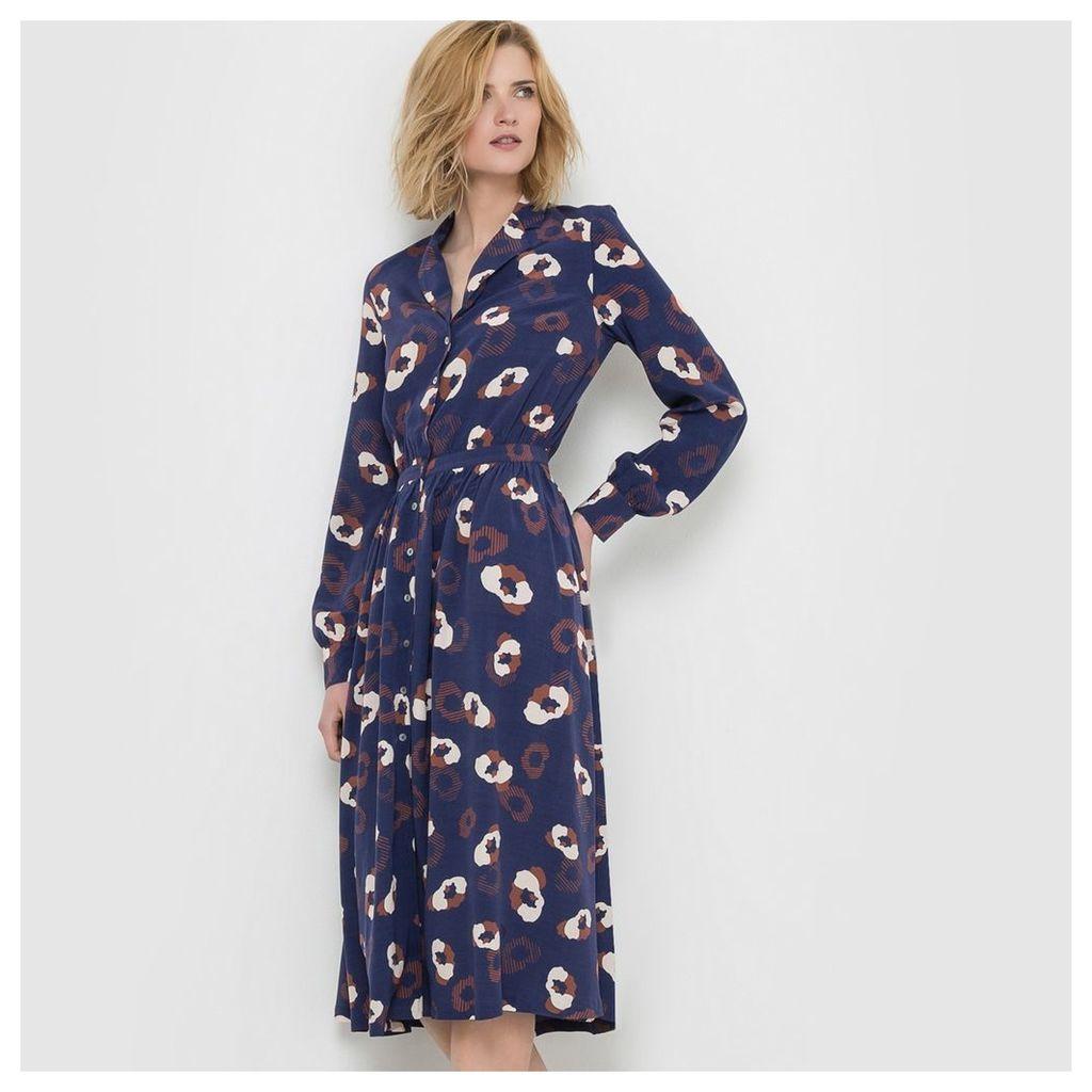 Printed Button-Through Dress