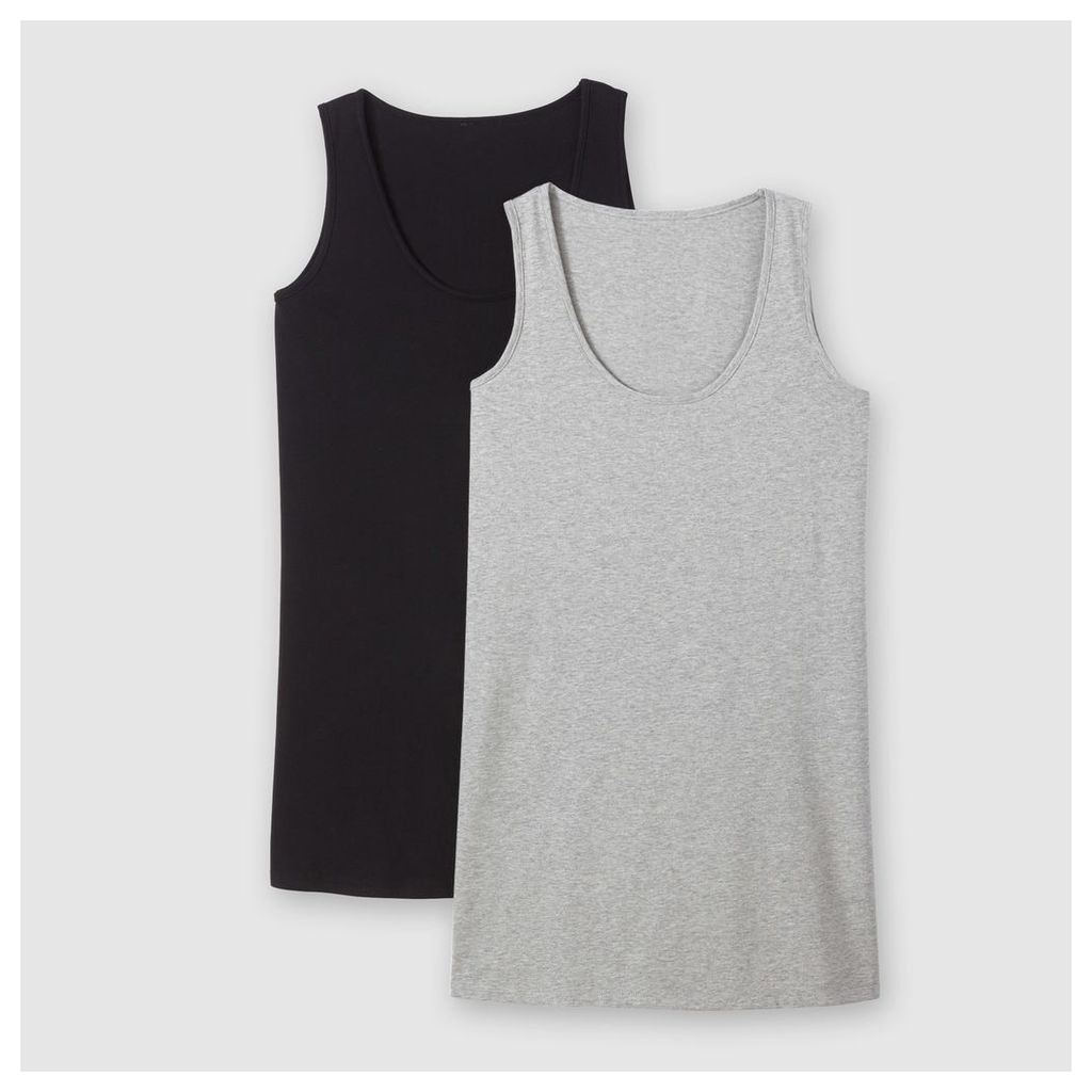 Pack of 2 Cotton Vest Tops