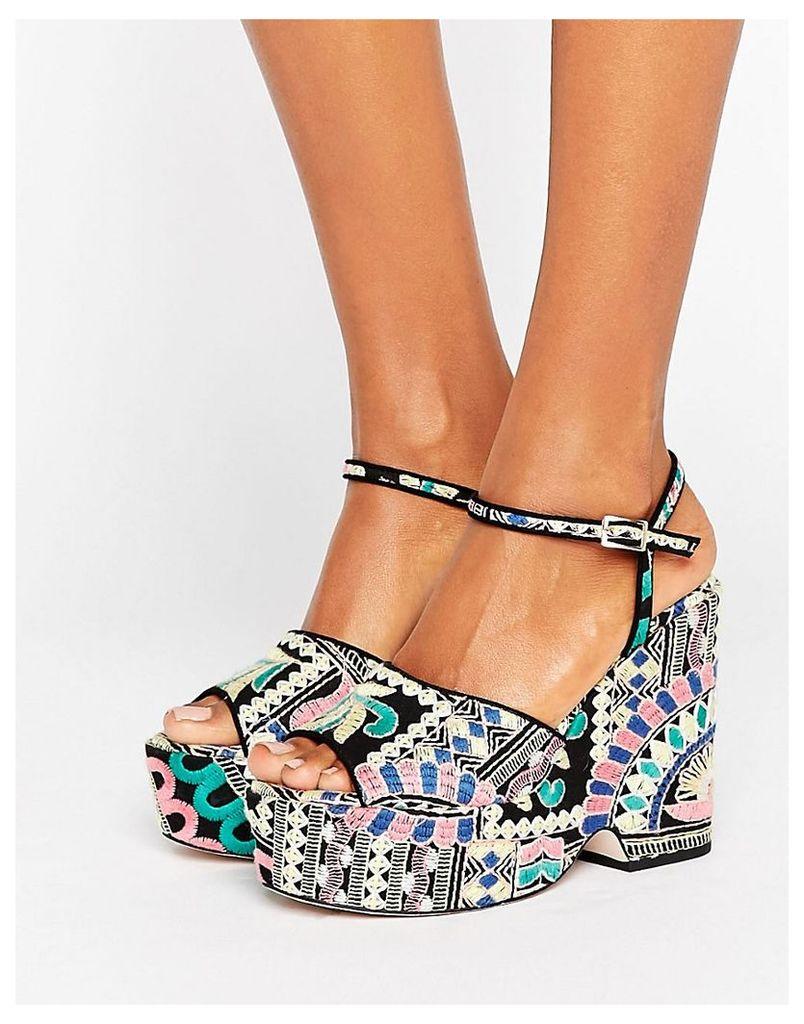 ASOS HORATIO Wedge Sandals - Multi