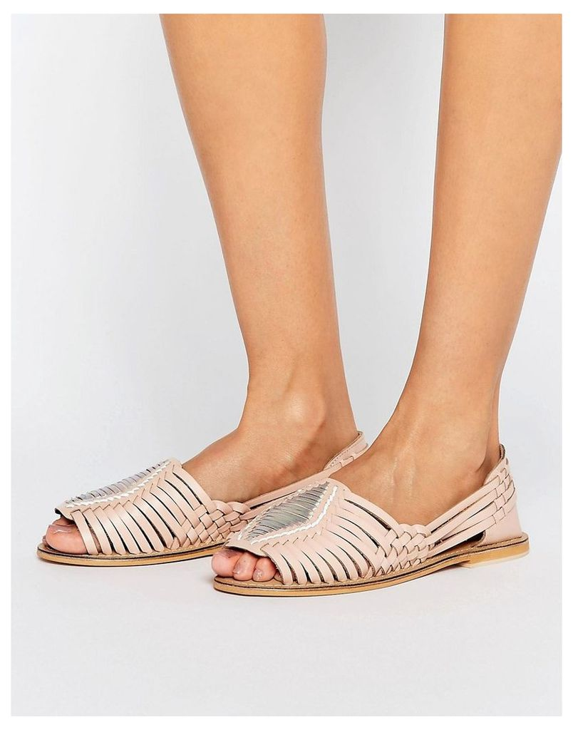 ASOS JUNE BUD Leather Summer Shoes - Nude