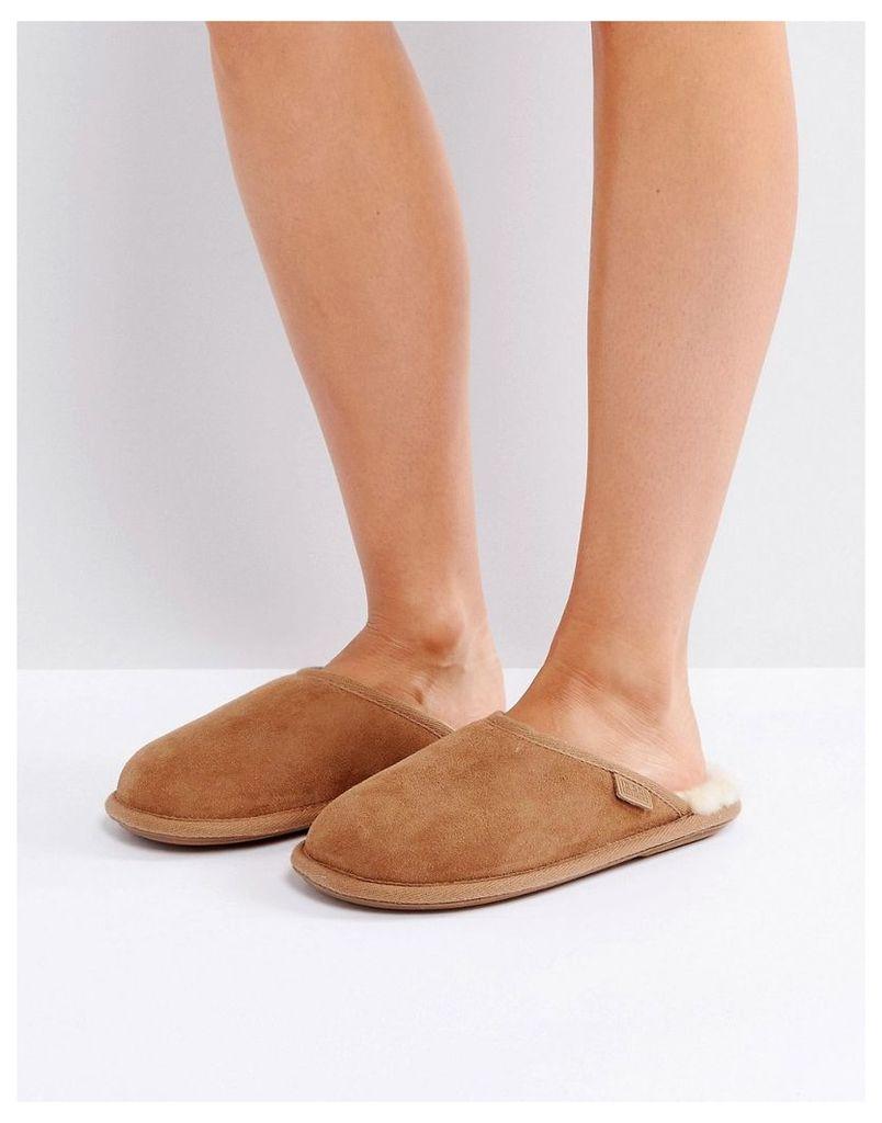 Just Sheepskin Shaftsbury Slippers - Tan