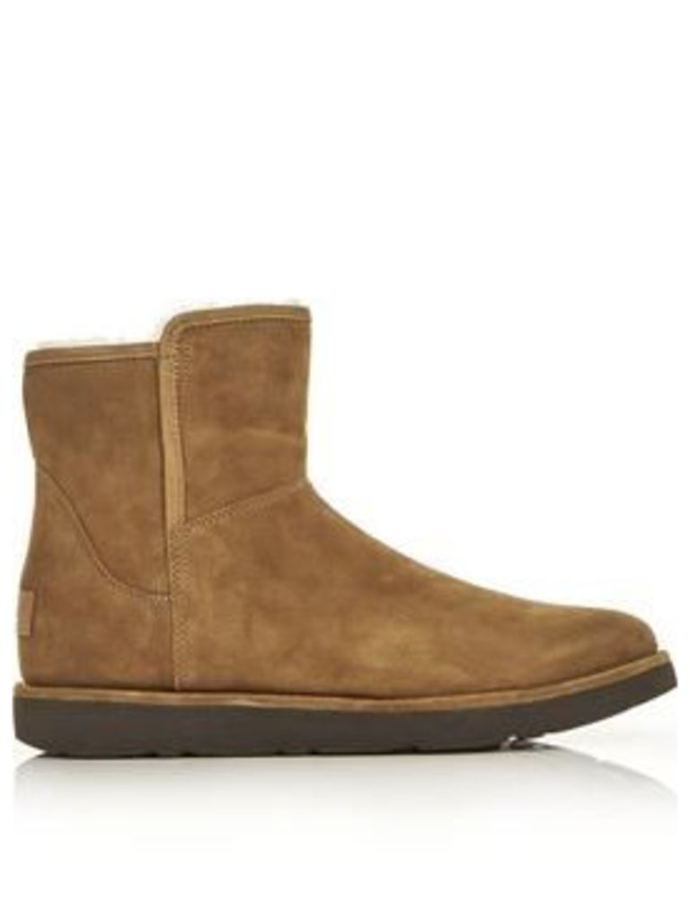 Ugg Abree Mini Classic Luxe Lined Ankle Boots - Chestnut
