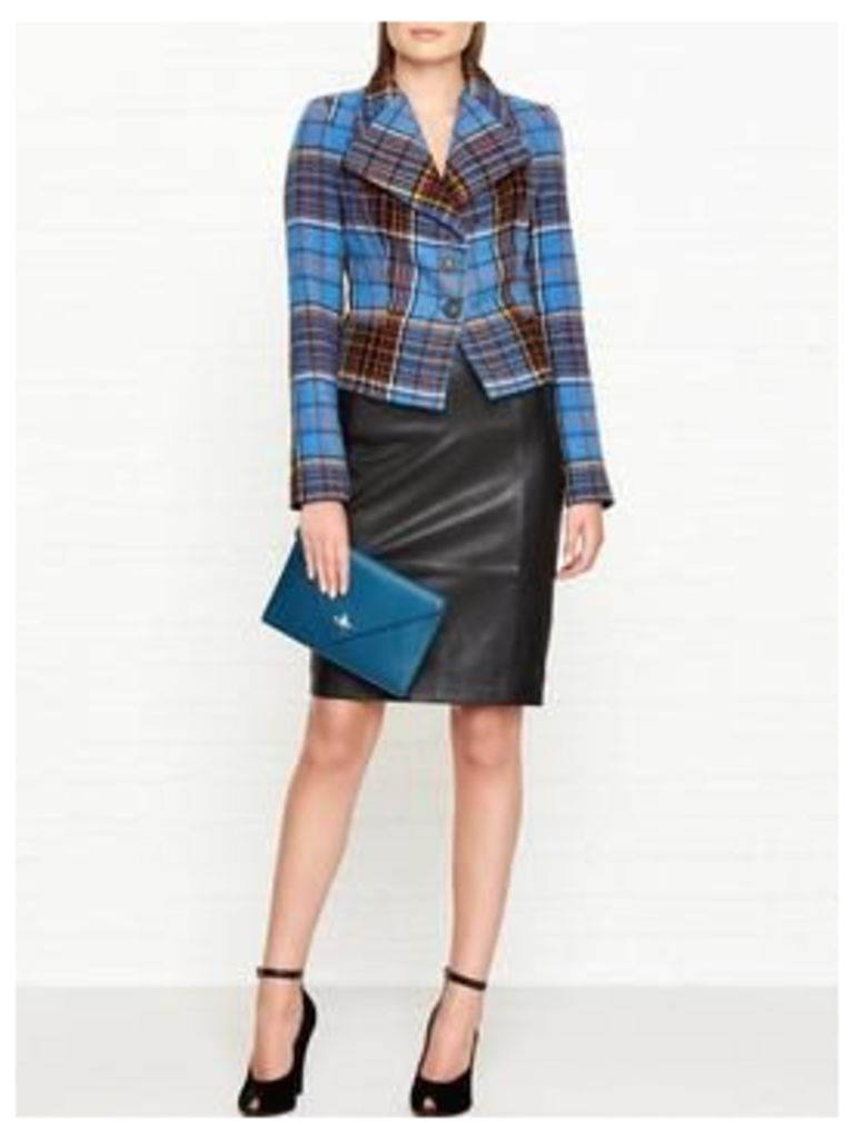 Vivienne Westwood Anglomania Porta Tartan Fitted Jacket - Blue