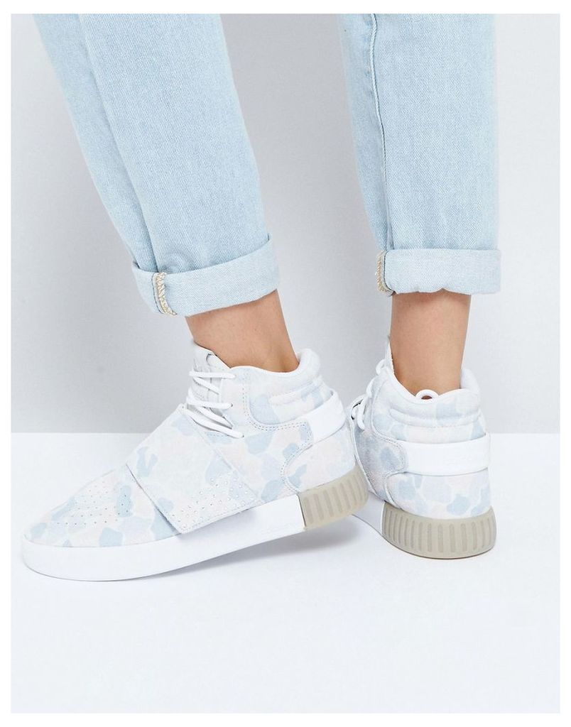 adidas Originals Pastel Camo Tubular Doom Trainers - Ftwr white