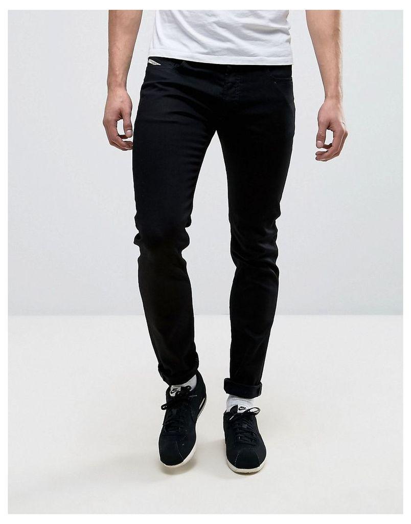 Diesel Jeans Sleenker 886Z Skinny Fit Black - Black