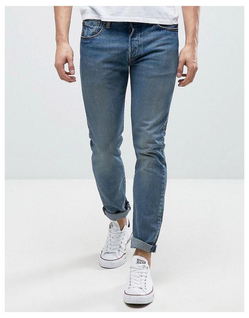 Levis 501 Skinny Jeans Dillinger Mid Wash - Dillinger