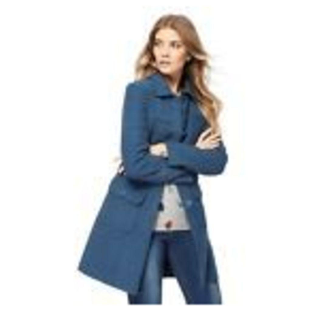 Mantaray Womens Blue Moleskin Longline Coat From Debenhams