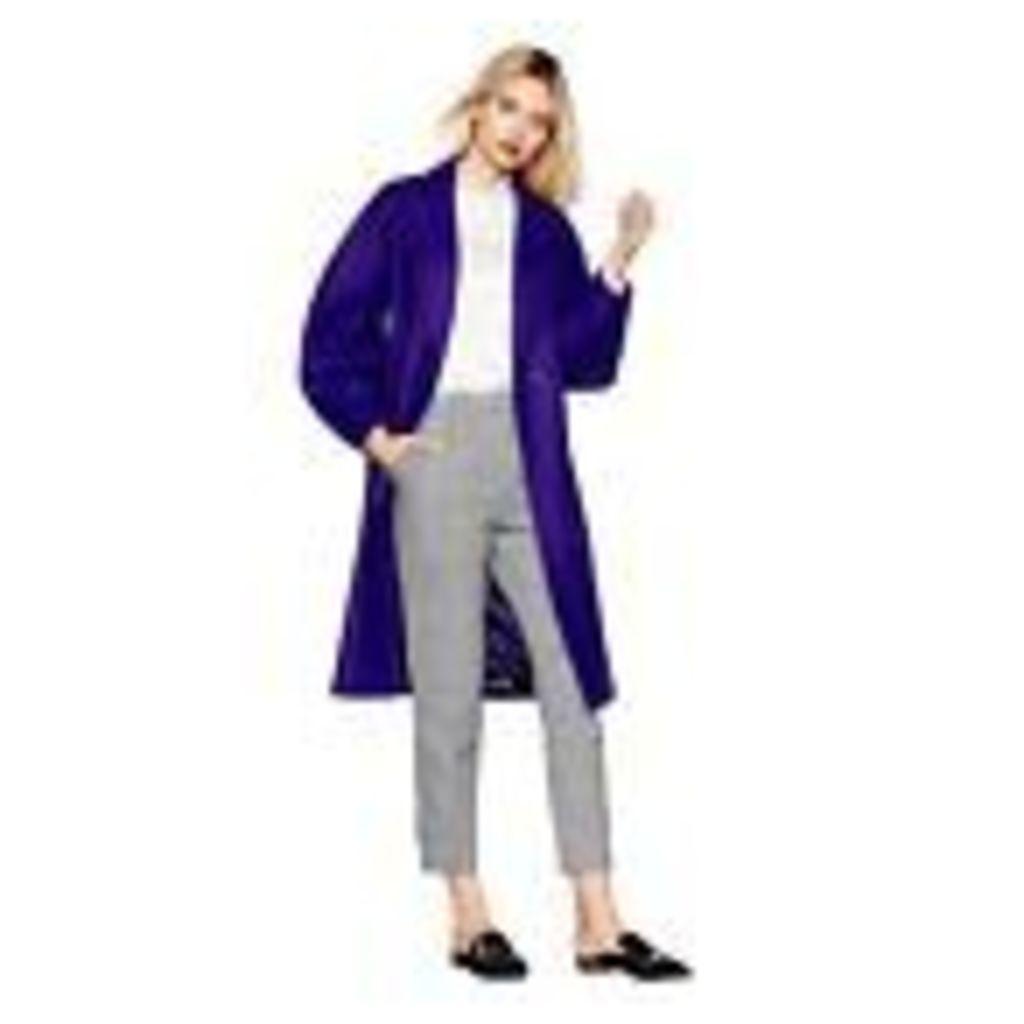 Studio By Preen Womens Purple Wool Blend Coat From Debenhams