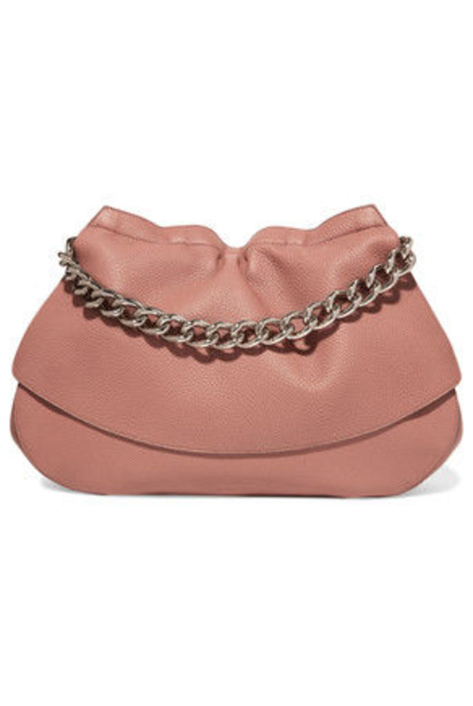 Jil Sander - Ridge Textured-leather Shoulder Bag - Antique rose