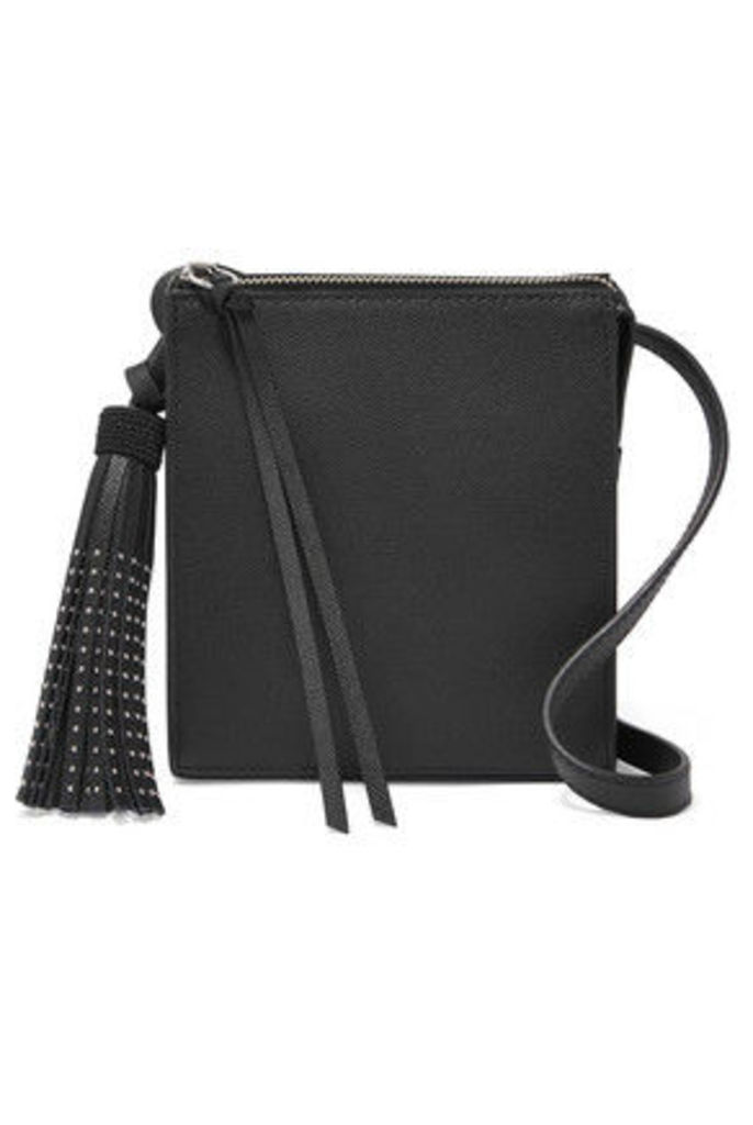 Elizabeth and James - Sara Stud-embellished Textured-leather Shoulder Bag - Black