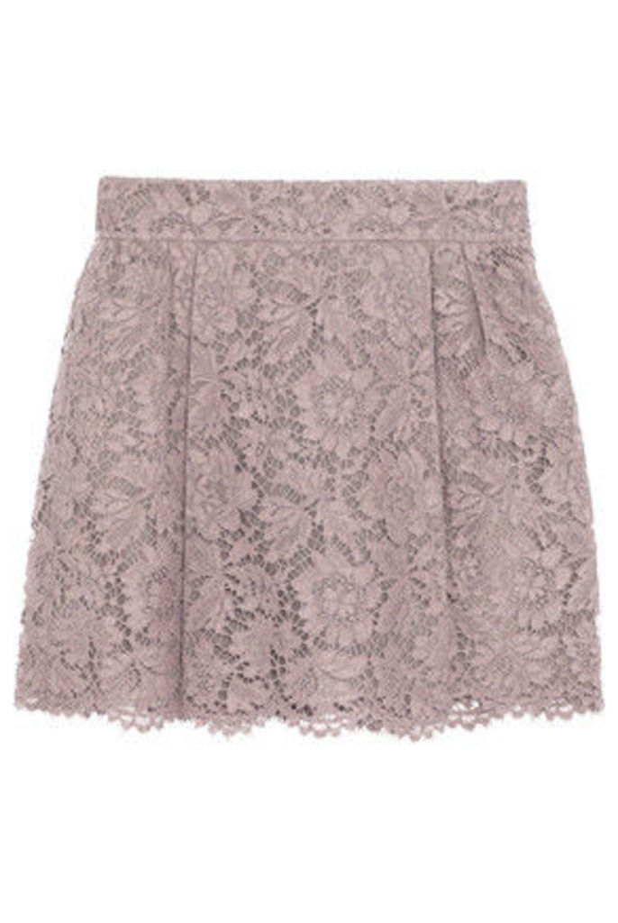 Valentino - Lace Mini Skirt - Taupe