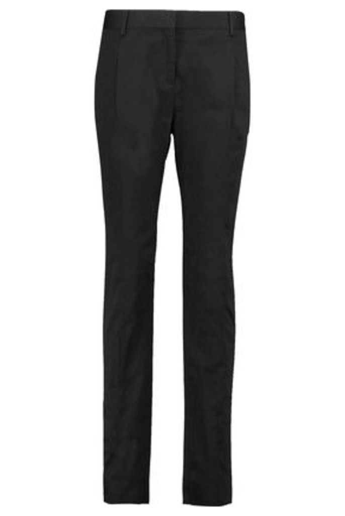 Valentino - Cotton-blend Straight-leg Pants - Black