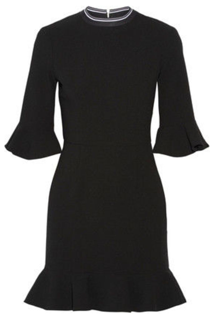 Rebecca Vallance - Billie Ruffled Stretch-crepe Mini Dress - Black