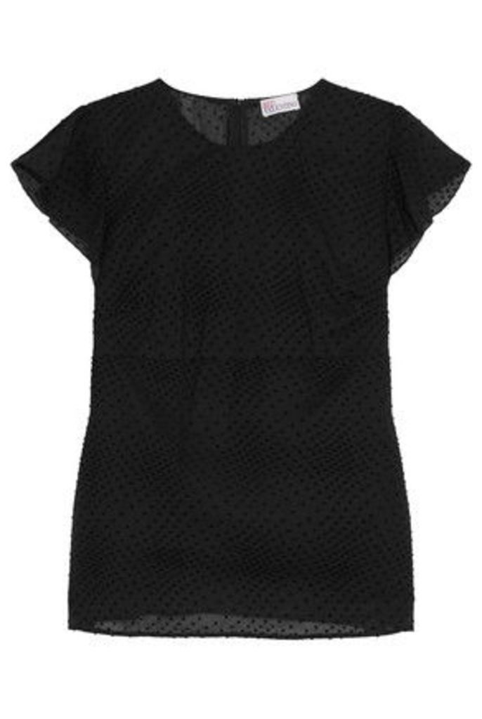 REDValentino - Polka-dot Cotton Top - Black