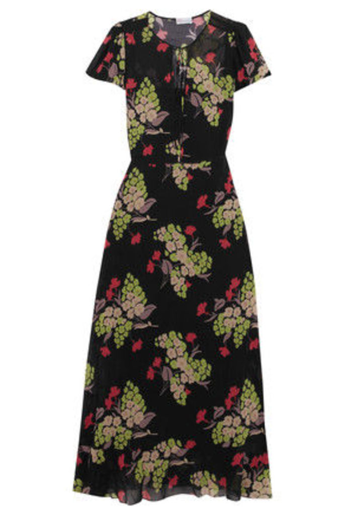 REDValentino - Printed Stretch-silk Chiffon Maxi Dress - Multi