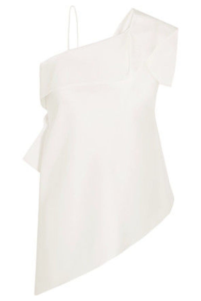 Roland Mouret - Iver One-shoulder Asymmetric Satin Top - White