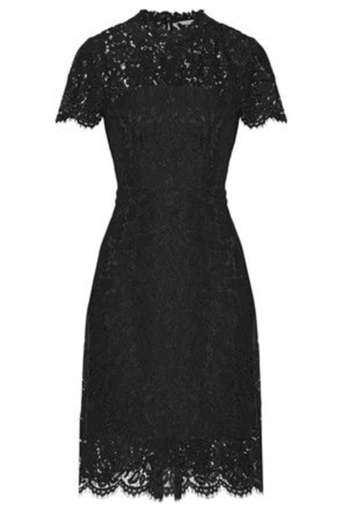 Diane von Furstenberg - Alma Cutout Corded Lace Dress - Black