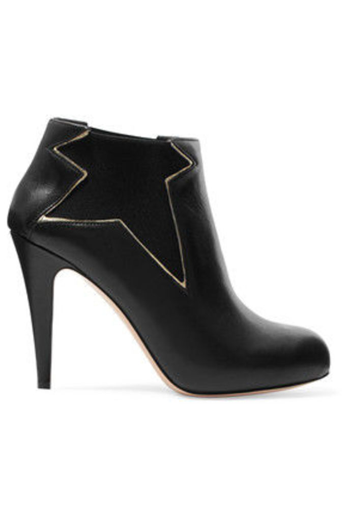 REDValentino - Leather Ankle Boots - Black