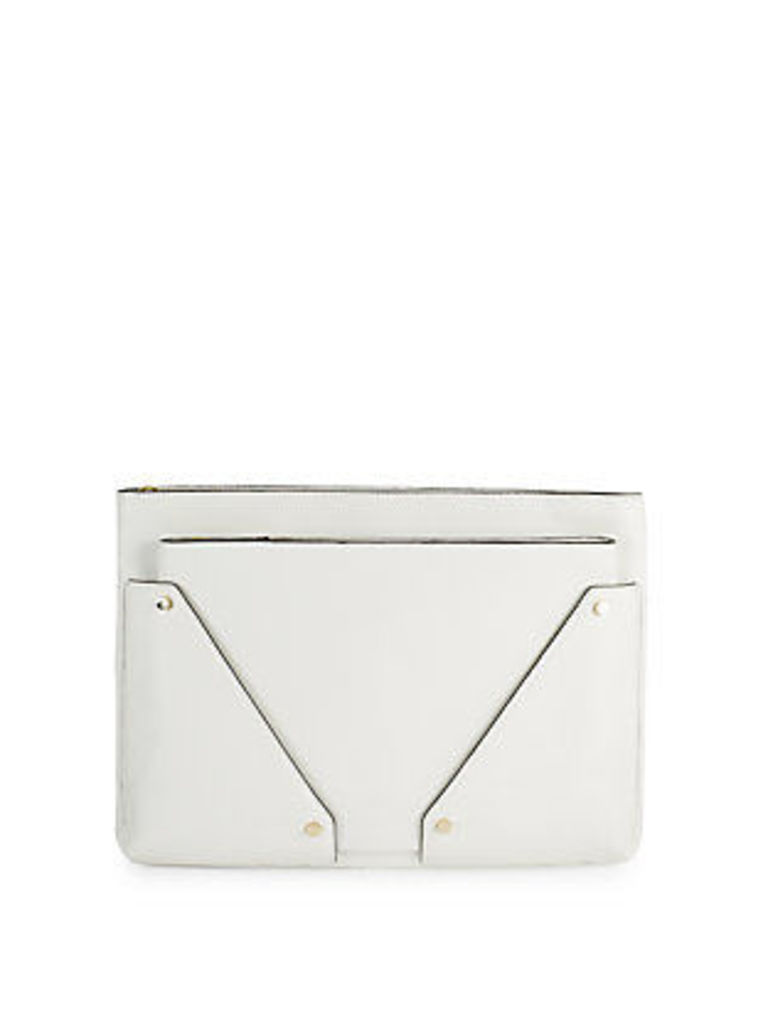 Zippered Leather Pouch
