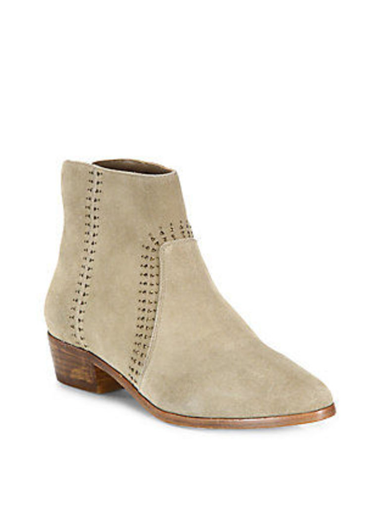 Lucy Embellished Suede Booties