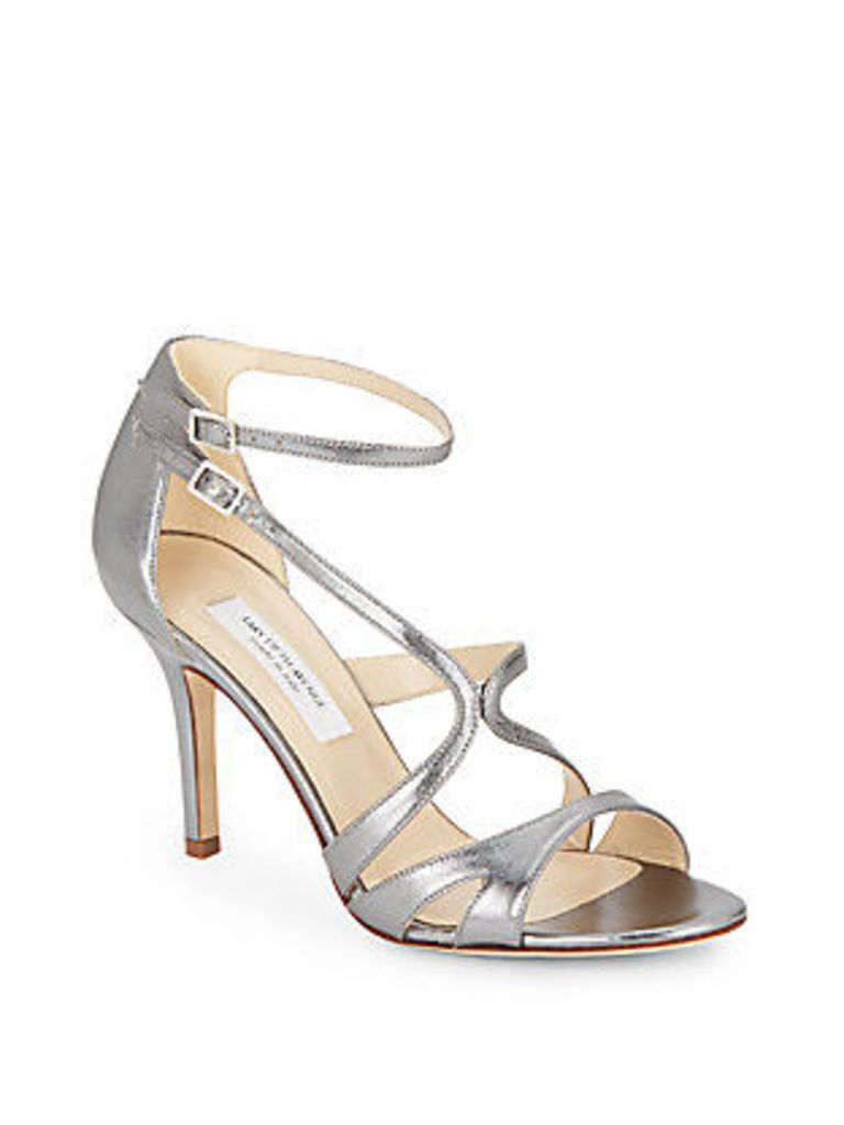 Rylie Metallic Leather Sandals